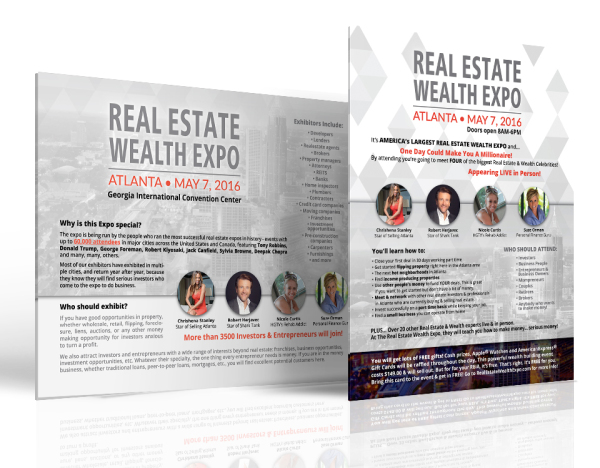 Real Estate Wealth Expo Poster and One-Pager