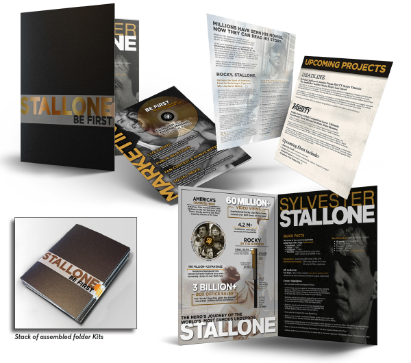 Sylvester Stallone book marketing packet