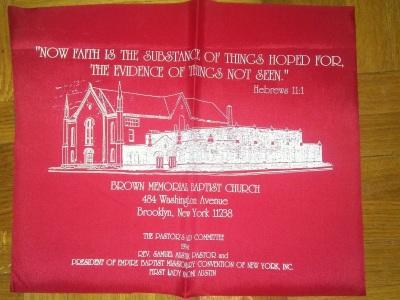 Red Vinyl Bag Sample for fundraising effort.