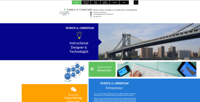 A colorful social cover example with images of structures and shapes.