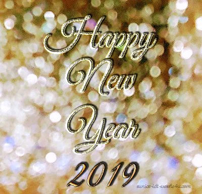 2019 Happy New Year social cover design