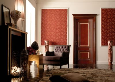 AMANTEA 1314/QQ Polished mahogany door