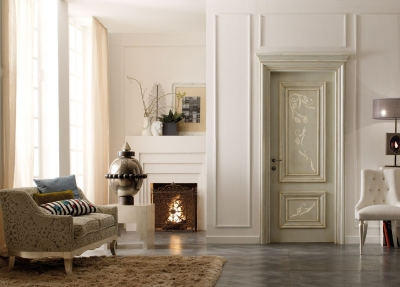 AMANTEA 1314/QQ French gray with raised decoration door