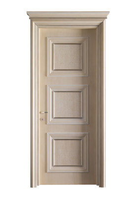 AMANTEA 1317/QQ aged silver and antique white door