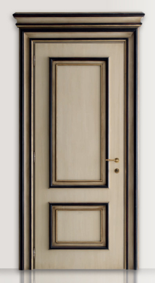 PIETRALTA 1324/QQ Ivory and black painted door