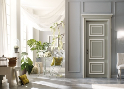 PIETRALTA 1325/QQ White relief painted door