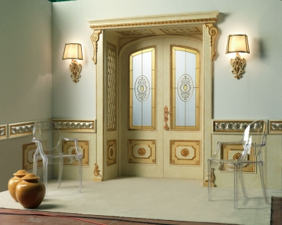 RE SOLE 3014/TQR/INT. INF./V with TQR Re Sole New lowered arch doorway and panelling on the wall and frame with quilted