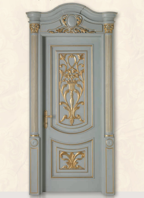LUIGI XVI 4014/QQ/INT frame Luigi, casing with cyma LUIGI XVI type A, lacquered shaded blue with gold topcoat
