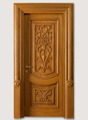 "LUIGI 4014/QQ/INT. with type ""F"" pillar coated light oak, with carved front panels"