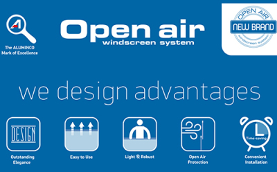 Open Air Windscreen System                                                                                               Advantages in terms of creating value.