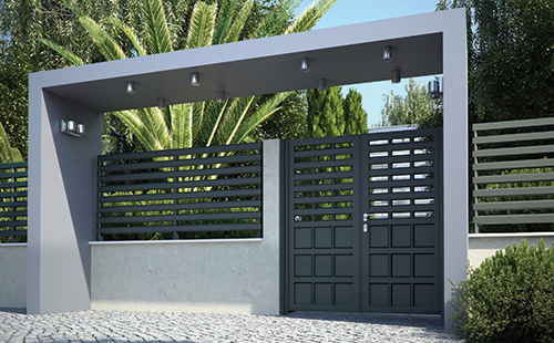 DISCRETE      The new generation of aluminium gates providing a solid, modern and discreet solution. Gates that are easy to assemble and to install and do not need maintenance.