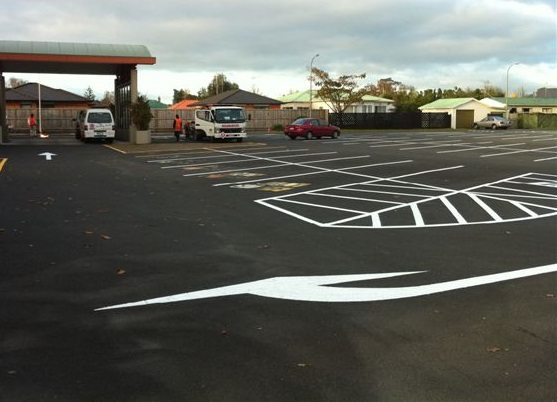 Carpark markings, lines and arrows