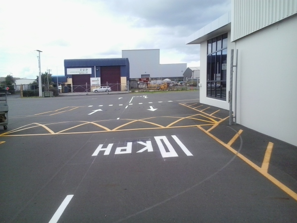 Carpark markings, numbers & letters