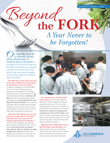 Culinary Newsletter