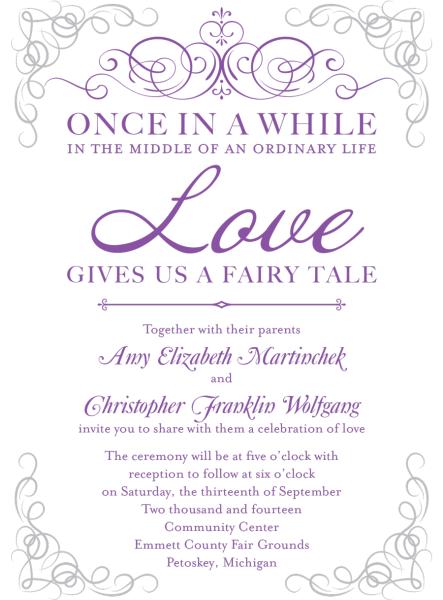 Fairy Tale Invite