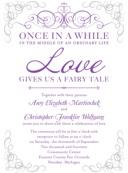 Fairy Tale Wedding Invite