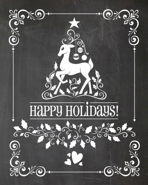 printable, card, print, graphic, chalkboard, art, holidays