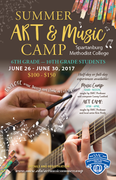 Art and Music Camp Poster
