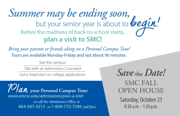 College Invitation Postcard Back