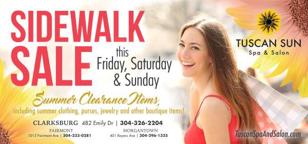 Sidewalk Sale Ad
