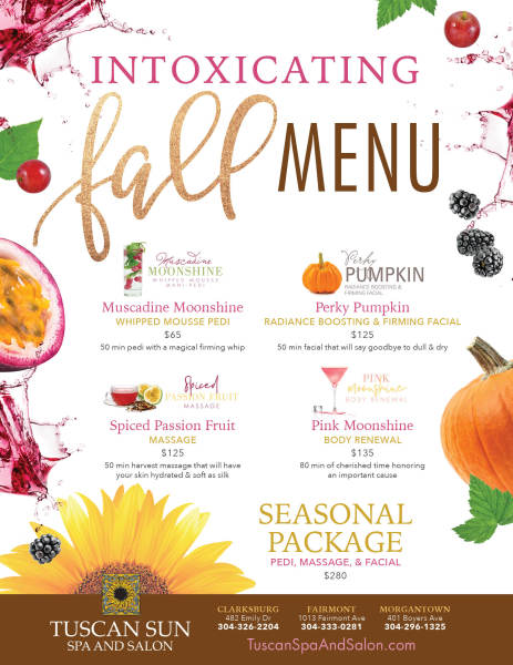 Spa Seasonal Menu