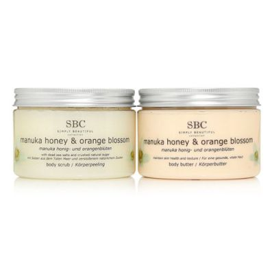 SBC Gels - Manuka Honey & Orange Blossom Scrub + Body Butter