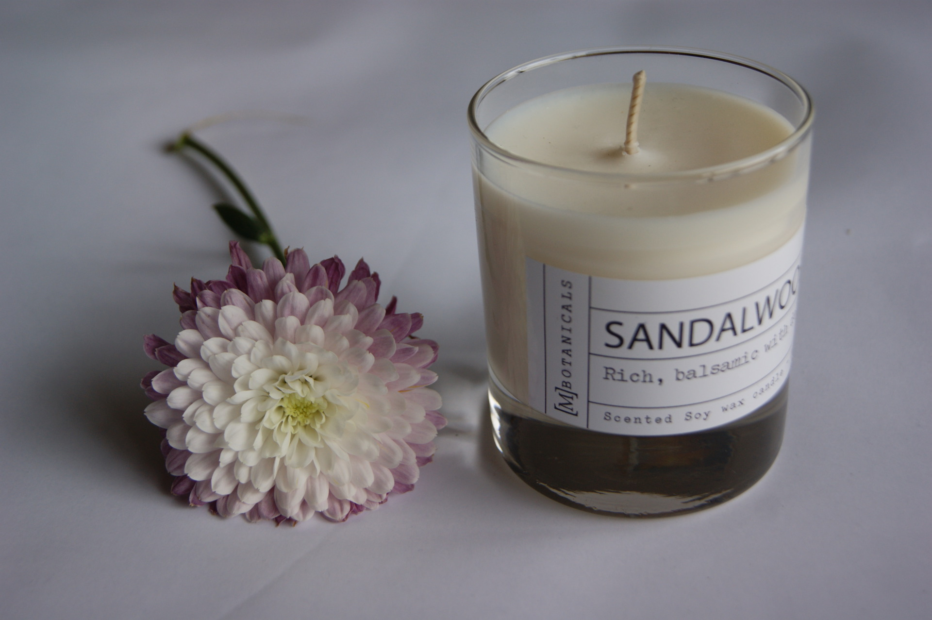 MBOTANICALS - Soy Wax Sandalwood Candle