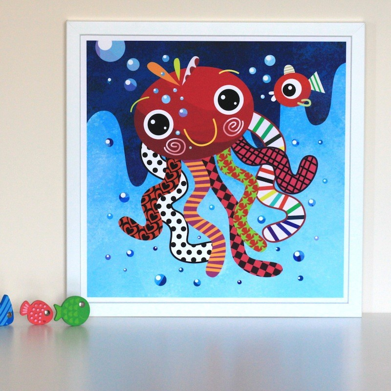 Witty Doodle - Octopus Print