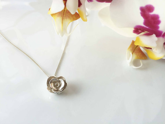 Amy Ring Jewellery - Handmade Rose Flower Pendant