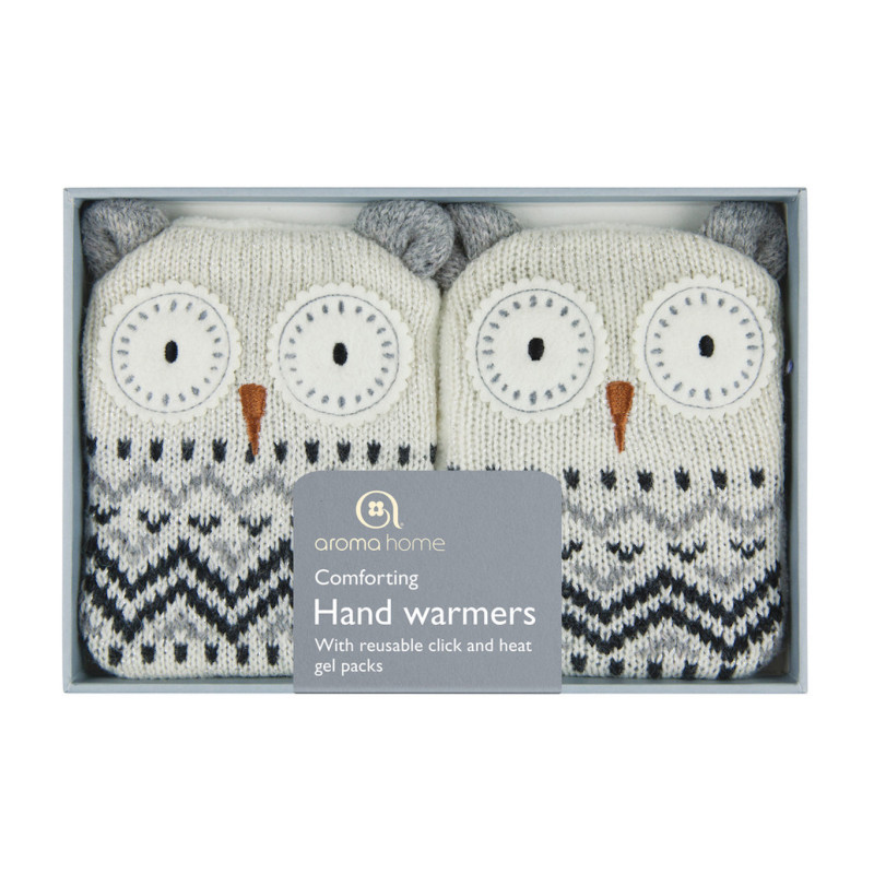 Aroma Home - Knitted Hand Warmers White Owl