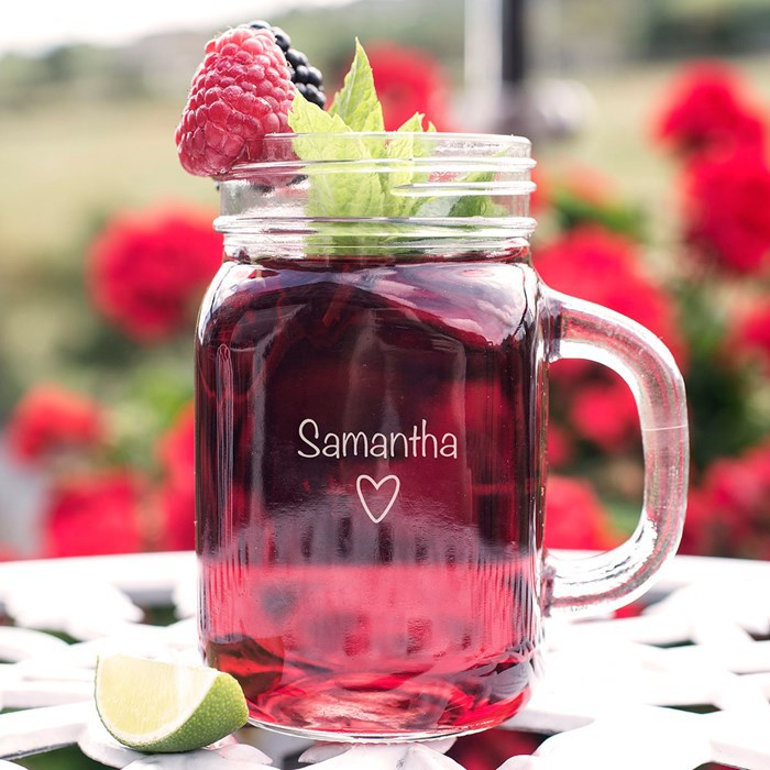 Getting Personal – Personalised Tennesse Mason Jar Heart