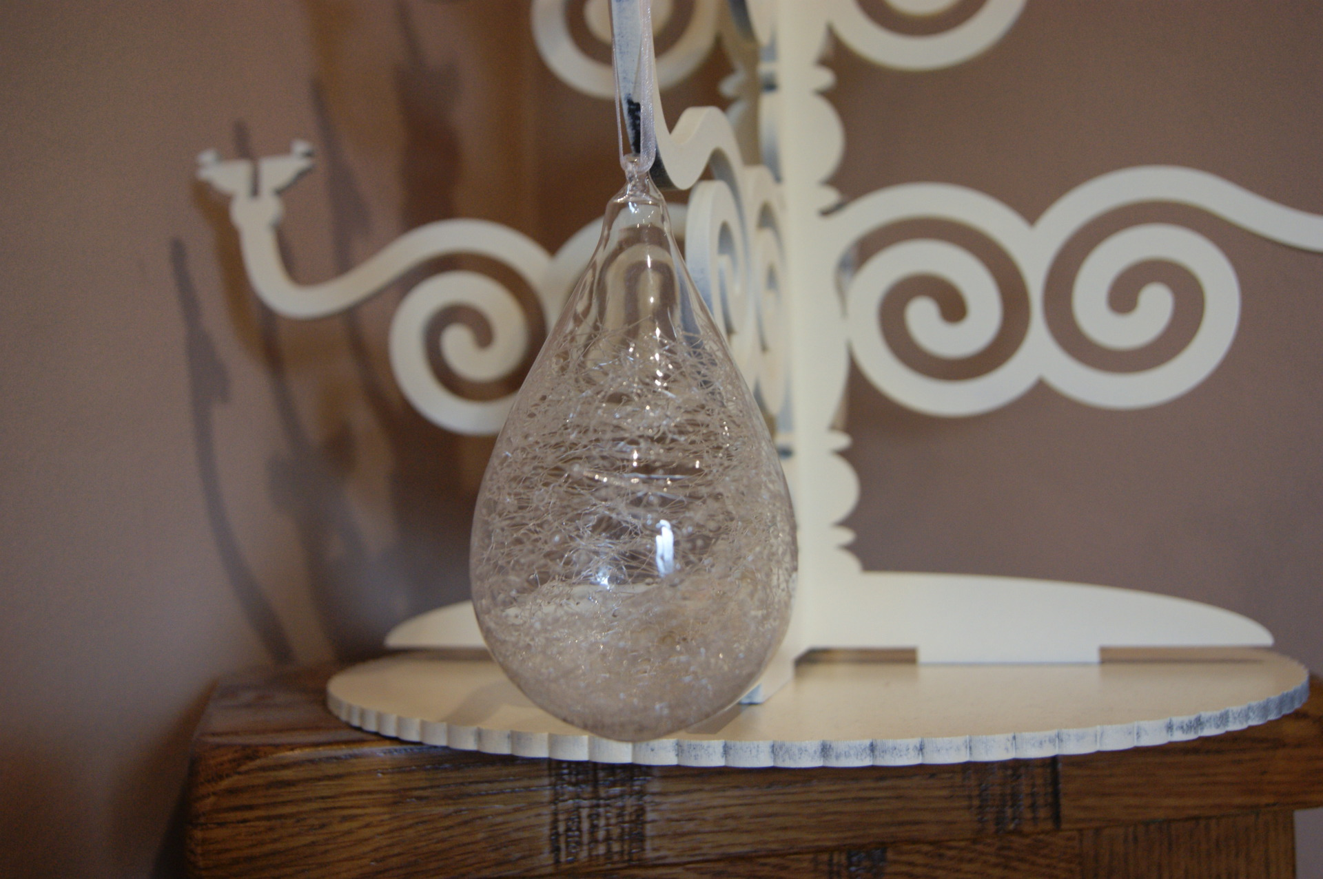 The Contemporary Home - Clear Glass Shred Bauble