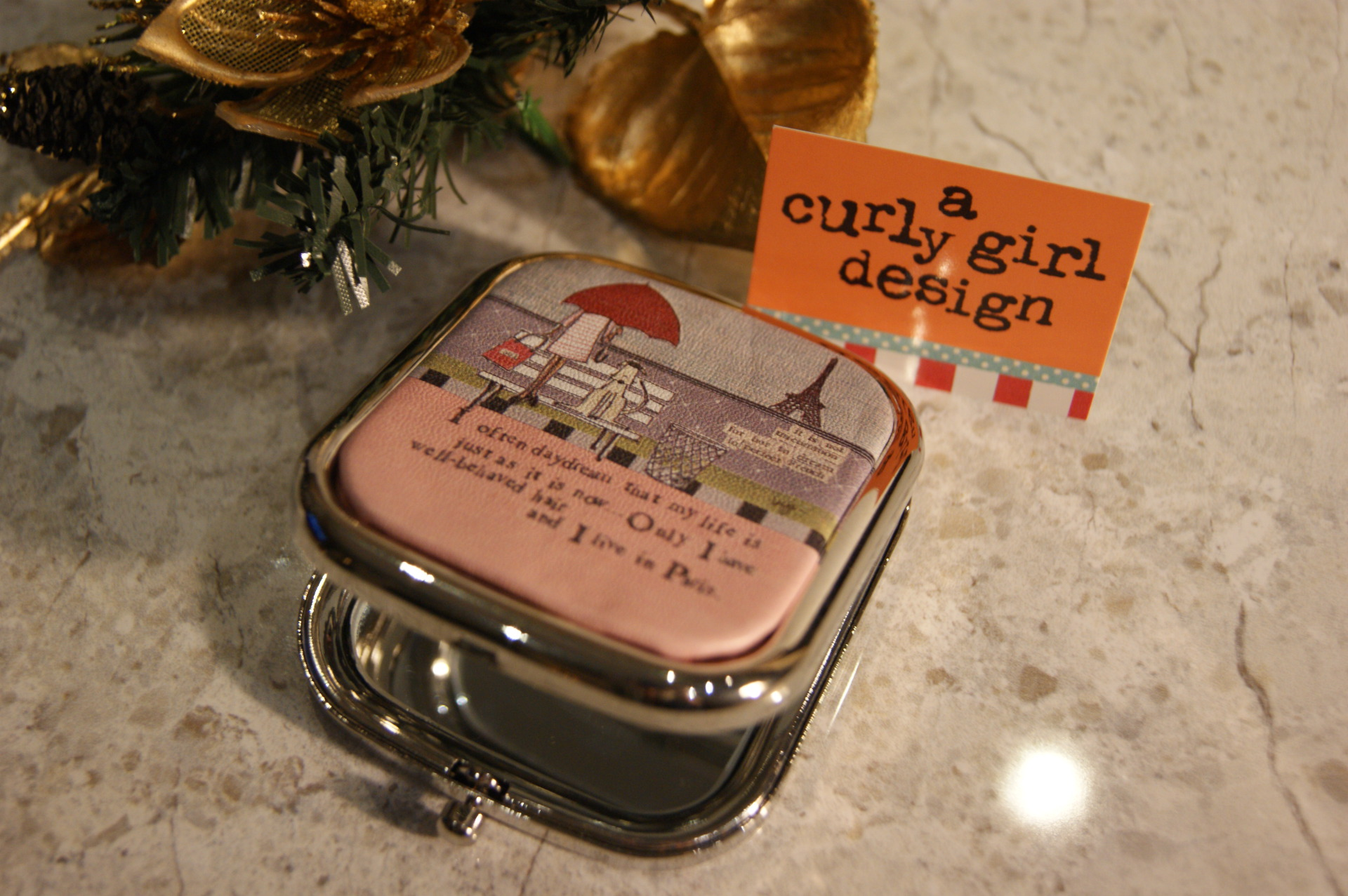 Really Good UK – Curly Girl Compact Mirror
