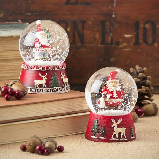 The Contemporary Home - Santa Snow Globe