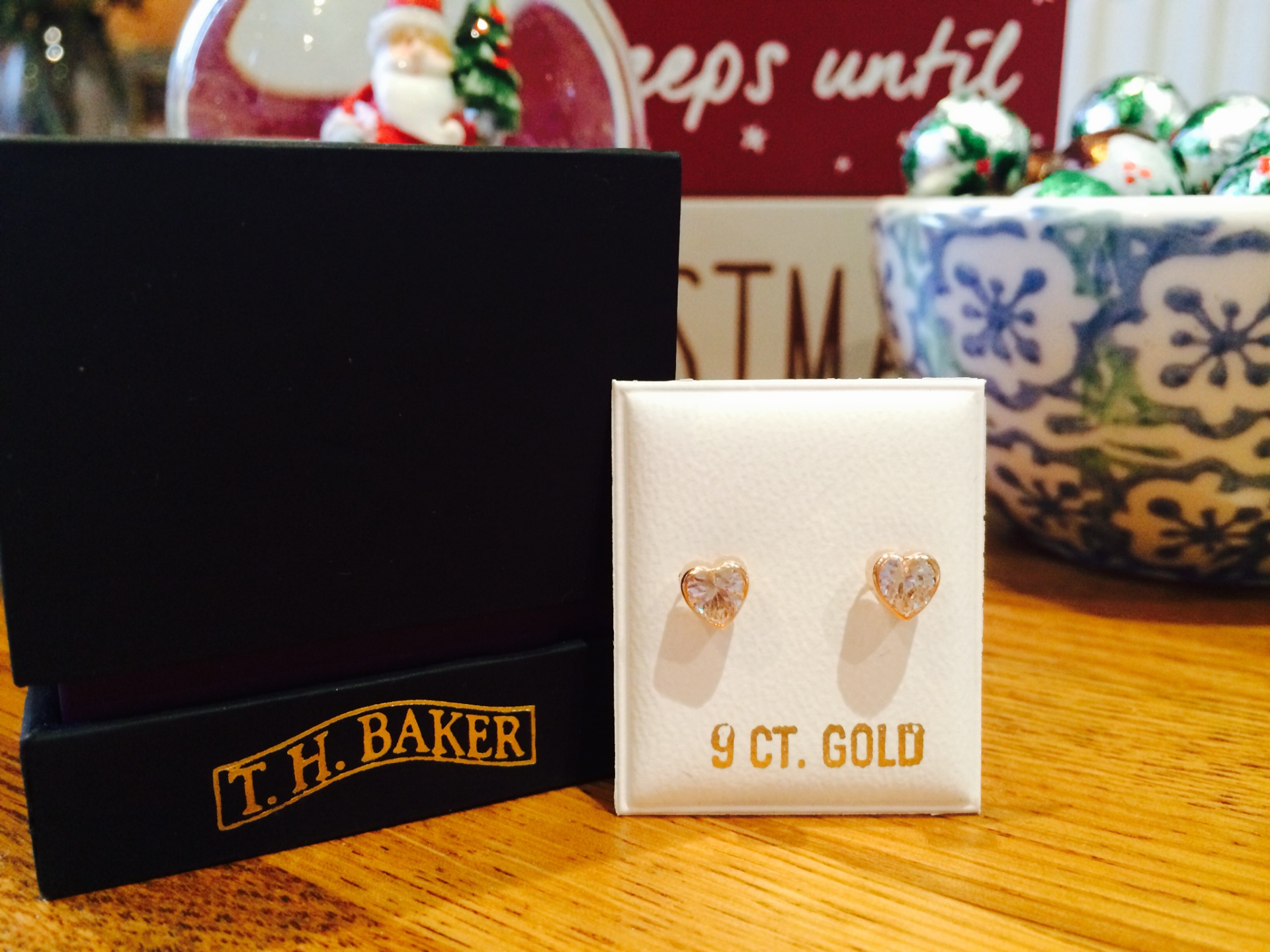 T.H. Baker 9 Carat Gold Earrings