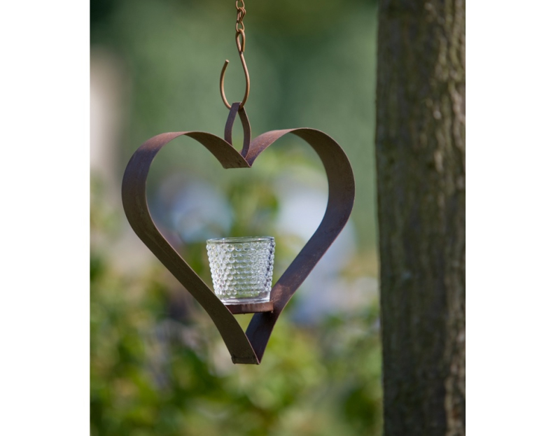 The Orchard - Shaker Hanging Heart T-Light Holder