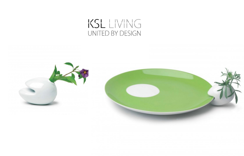 KSL Living - Porcelain Flower Clips