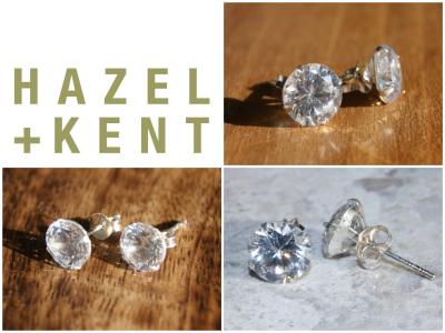 Hazel + Kent - Topaz Silver Stud Earrings