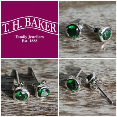T.H.Baker Silver Stud Earrings