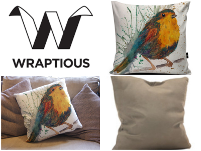 Wraptious - Splatter Bird Cushion