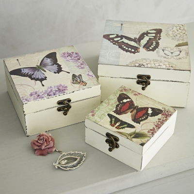 Rigby & Mac - Wooden Butterfly Box