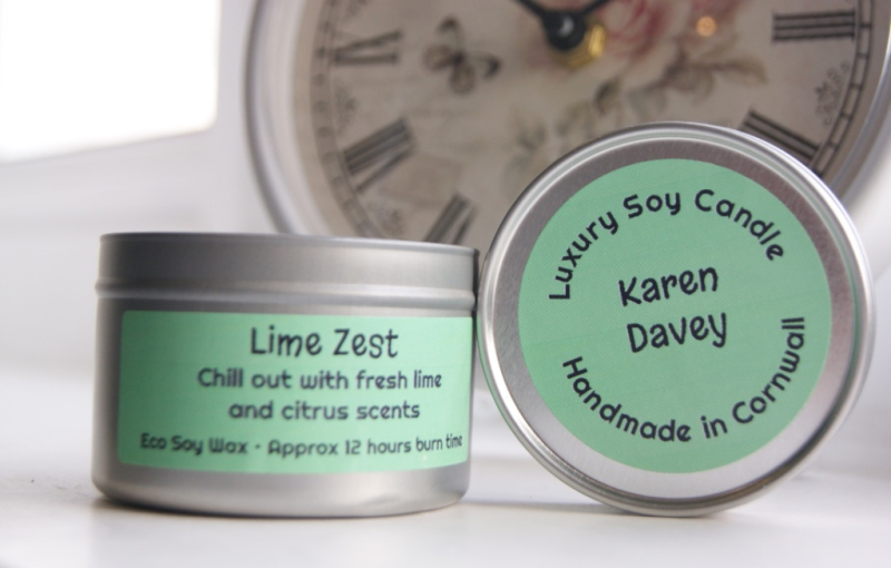 Karen Davey - Lime Zest Soy Candle