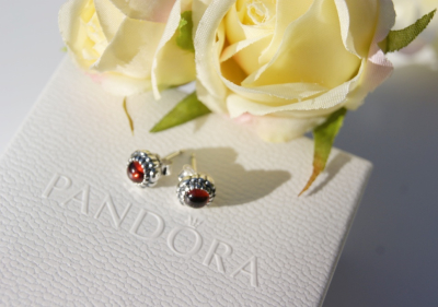 Pandora - January Birthstone Earrings