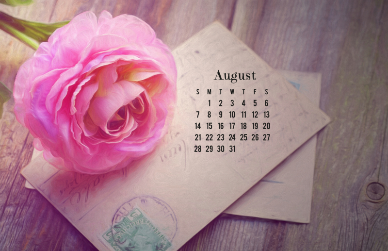 Free Desktop Calendars for August 2016