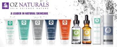 OZ Naturals Skincare Banner