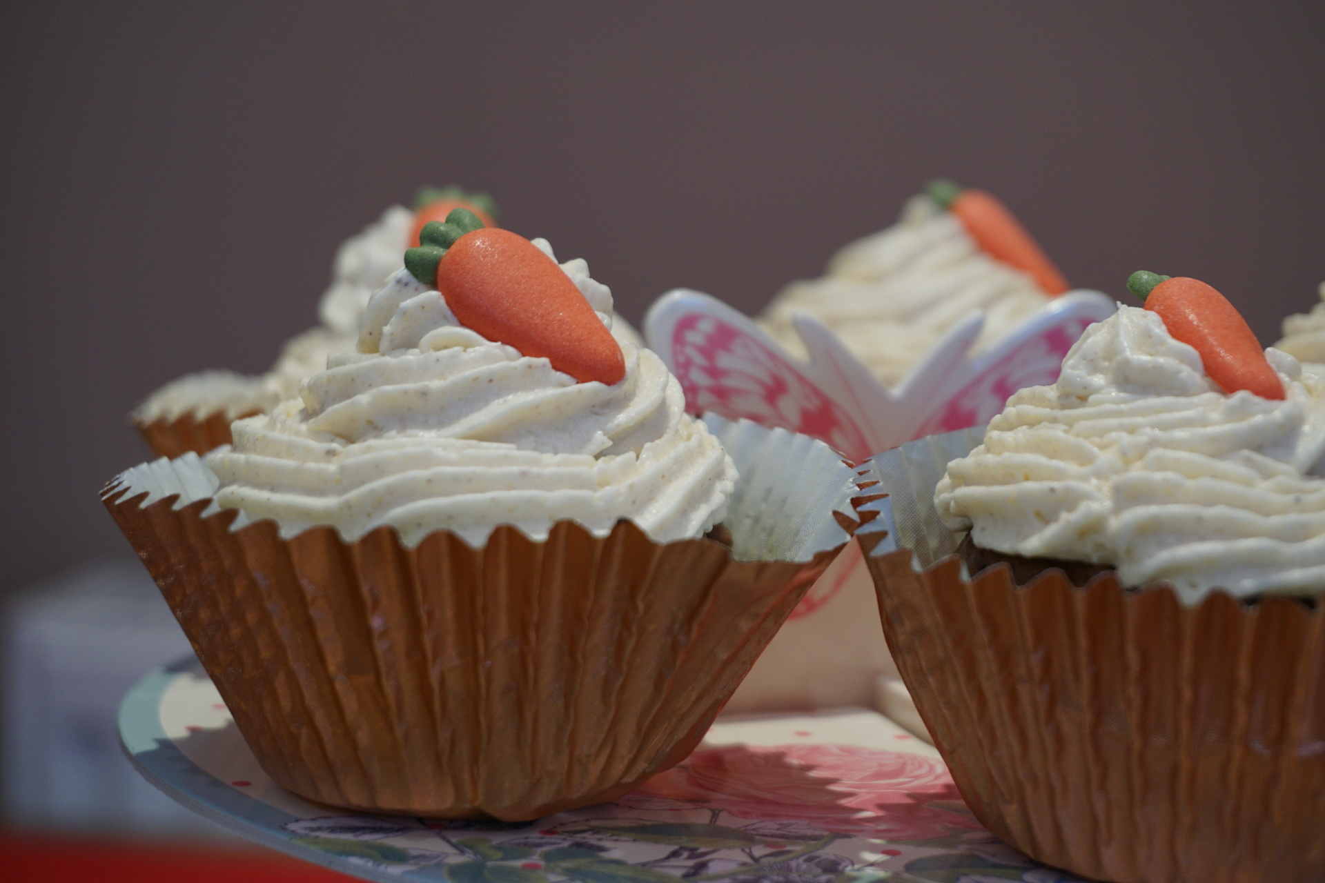 Carrot & Lemon Buttercream Cupcakes!
