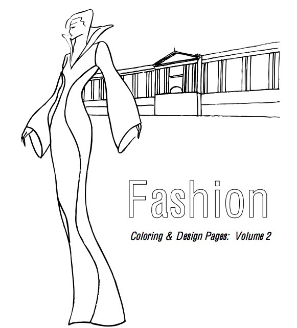FREE Fashion colouring book