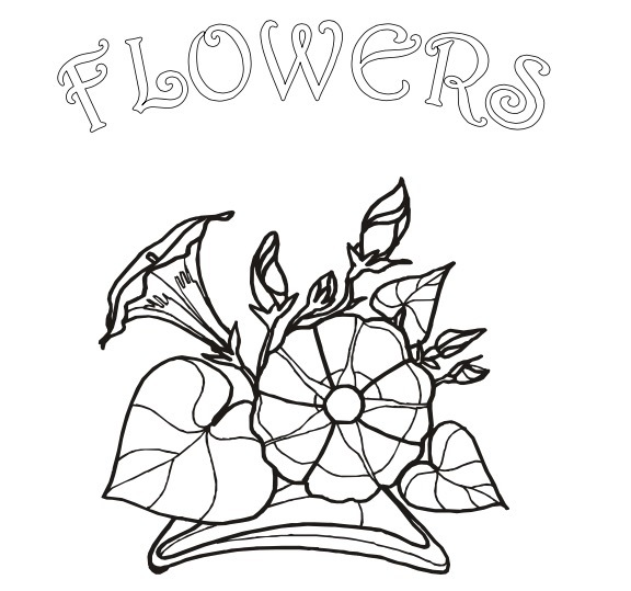 FREE Flowers colouring book