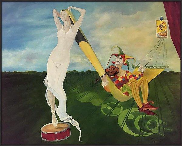 Interior Design, Interiors, Tarot Cards, Joker Tarot, Painting the Tarot, Fasano, John Fasano, surrealist, surrealism, Salvador Dali, Home Decor, Art, oil paintings, Artist studio,