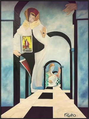 Tarot Cards, Interior Design, Surrealism, John Fasano, Fasano, Art, Home Decor, Interior Styling, Interior Design, Salivadore Dali, oil Paintings, Interiors,